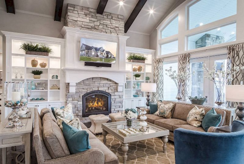 Rustic Living Room Ideas for Large Space